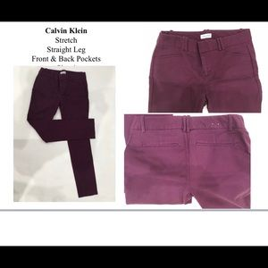 Calvin Klein Purple slacks pants